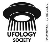 ufology society fan logo.... | Shutterstock .eps vector #1240198372