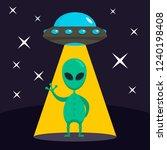 hello from alien concept...   Shutterstock .eps vector #1240198408
