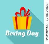 boxing final day logo set. flat ... | Shutterstock .eps vector #1240199038