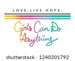 girls can do anything hand... | Shutterstock .eps vector #1240201792