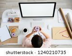 overview of office manager... | Shutterstock . vector #1240210735