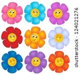 flower theme image 4   vector...