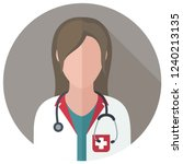 vector medical icon woman... | Shutterstock .eps vector #1240213135