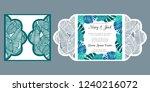 laser cut wedding invitation...   Shutterstock .eps vector #1240216072