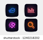 neon glow lights. set of upper... | Shutterstock .eps vector #1240218202