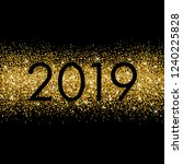 new year poster with gold... | Shutterstock .eps vector #1240225828