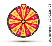 wheel of fortune lottery luck... | Shutterstock .eps vector #1240226425