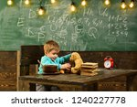 Stock photo school cafeteria little boy in school cafeteria school cafeteria for healthy eating child feed 1240227778