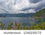 sea and mountains in bad gloomy ...   Shutterstock . vector #1240230175