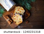 fruit loaf cake dusted with... | Shutterstock . vector #1240231318