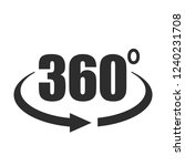 360 degree view vector icon... | Shutterstock .eps vector #1240231708