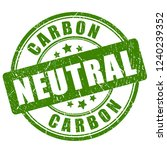 carbon neutral green stamp...   Shutterstock .eps vector #1240239352