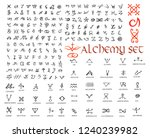 large set of alchemical symbols ... | Shutterstock .eps vector #1240239982