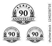 90 years anniversary set. 90th...   Shutterstock .eps vector #1240258735