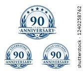 90 years anniversary set. 90th...   Shutterstock .eps vector #1240258762