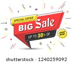 banner  sale banner template in ... | Shutterstock .eps vector #1240259092