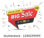 banner  sale banner template in ... | Shutterstock .eps vector #1240259095