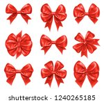bow knots for new year and... | Shutterstock .eps vector #1240265185