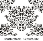 damask seamless pattern with... | Shutterstock .eps vector #124026682