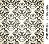 damask vintage seamless pattern ... | Shutterstock .eps vector #124026802