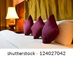 Stock photo purple pillows 124027042