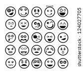 emoticon set | Shutterstock .eps vector #124027705