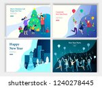 set of landing page template or ... | Shutterstock .eps vector #1240278445