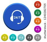 24 hour call center round color ... | Shutterstock .eps vector #1240282705