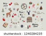 christmas objects vector set... | Shutterstock .eps vector #1240284235