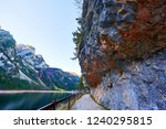 photo of footpath and rocks on...   Shutterstock . vector #1240295815