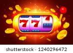 golden slot machine with moving ...   Shutterstock .eps vector #1240296472