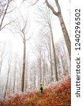 man silhouette in the frozen... | Shutterstock . vector #1240296502
