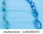 frame from measuring tapes with ... | Shutterstock . vector #1240300192
