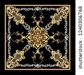 design scarf with golden... | Shutterstock .eps vector #1240306768