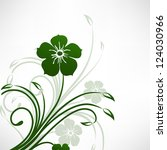 beautiful floral background.... | Shutterstock .eps vector #124030966