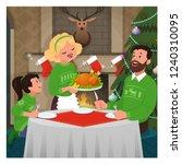 christmas dinner vector...   Shutterstock .eps vector #1240310095
