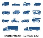 trucks icons set. vector... | Shutterstock .eps vector #124031122