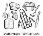 vector illustration of kitchen...   Shutterstock .eps vector #1240318828