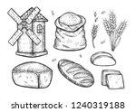 vector illustration of a bread...   Shutterstock .eps vector #1240319188