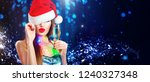 christmas sexy woman. beauty... | Shutterstock . vector #1240327348
