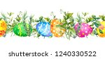 decorated colored easter eggs... | Shutterstock . vector #1240330522