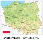 poland physical map. highly... | Shutterstock .eps vector #1240331242