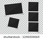 photo picture frame polaroid.... | Shutterstock .eps vector #1240334065