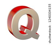 alphabet letter q with red... | Shutterstock . vector #1240334155