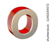 alphabet letter o with red... | Shutterstock . vector #1240335472