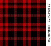 black and red tartan plaid... | Shutterstock .eps vector #1240340512