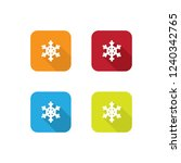 colorful snowflake icons with...
