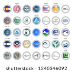 set of vector icons. flags and...   Shutterstock .eps vector #1240346092