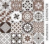 seamless pattern of tiles.... | Shutterstock .eps vector #1240346728