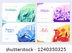 brochures with insects in the... | Shutterstock .eps vector #1240350325